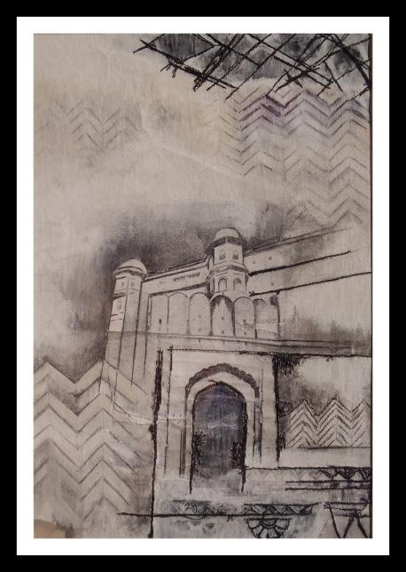 Jaipur – Mixed Media – 27cm x 19cm – 2014
