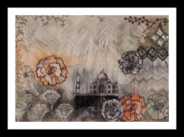 Taj Mahal – Mixed Media – 27cm x 38cm – 2014