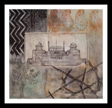 Red Fort – Mixed Media – 23cm x 23cm – 2014
