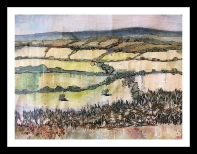 Shropshire Landscape, Mixed Media, 2018